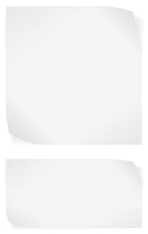 Witboekstickers op witte achtergrond worden geïsoleerd die