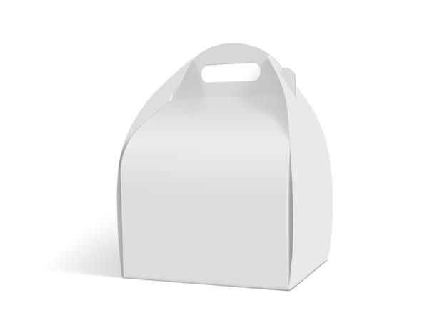Witboekvakje dat op witte achtergrond wordt geïsoleerd