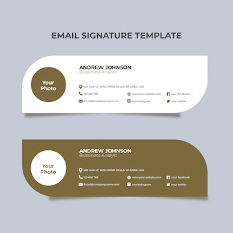 Witgouden e-mailhandtekening