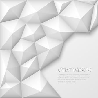 Witte 3d geometrische abstracte vectorachtergrond
