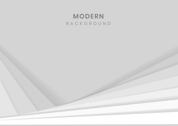 Witte 3d geometrische moderne achtergrond