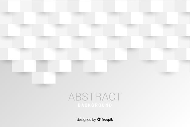 Witte 3d papier stijl achtergrond