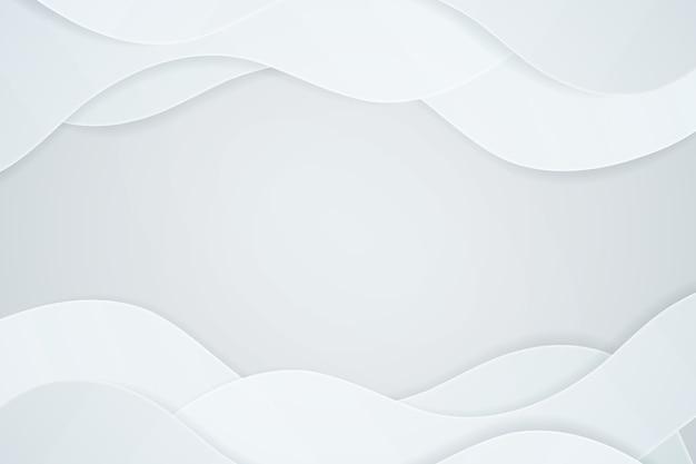 Witte 3d papier stijlachtergrond