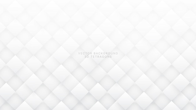 Witte 3d rhombus abstracte achtergrond