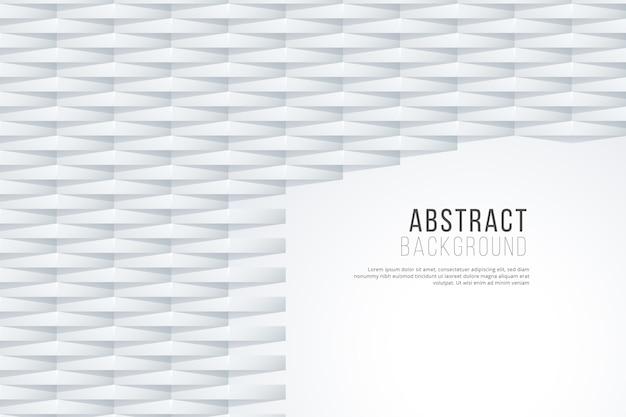 Witte abstracte achtergrond in 3d papieren ontwerp