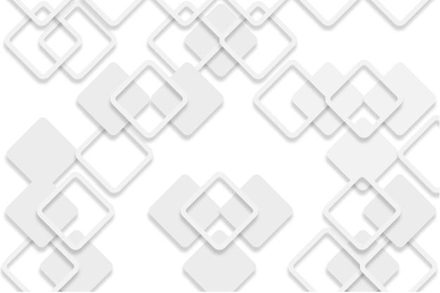 Witte abstracte achtergrond in 3d-papierstijl