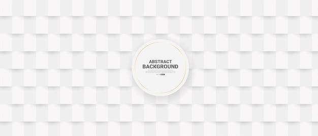 Witte abstracte achtergrond in 3d-papierstijl.