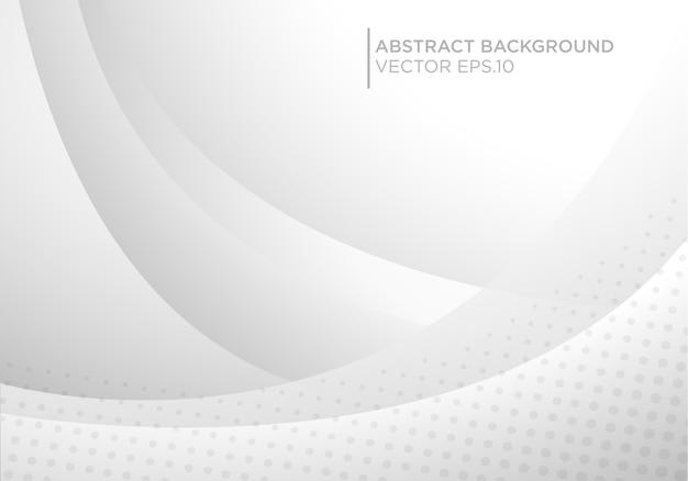 Witte abstracte achtergrond met futuristisch en modern concept
