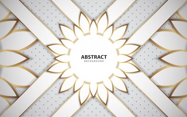 Witte abstracte achtergrond met gouden lijn