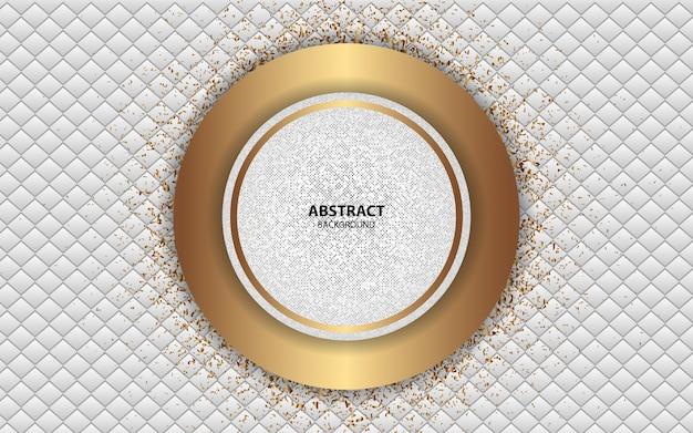 Witte abstracte achtergrond met gouden lijndecoratie