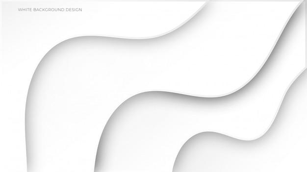 Witte abstracte achtergrond met overlappende laag