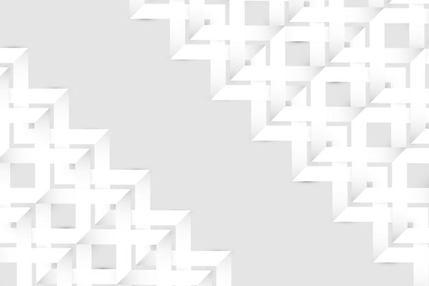 Witte abstracte behang 3d papierstijl