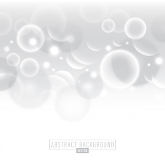 Witte abstracte cirkel bubble vector achtergrond