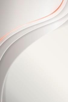 Witte abstracte golvende achtergrond