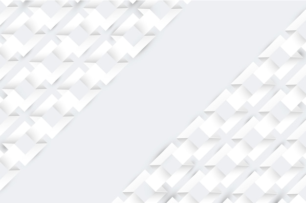 Witte abstracte screensaver 3d-papierstijl