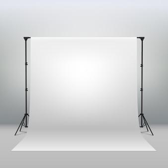 Witte achtergrond achtergrond voor fotografie photo booth achtergrond voor fotoshoot achtergrondscherm video-opname partijen gordijn. professioneel fotostudio-interieur. fotografie statieven en rekken.