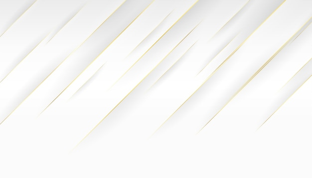 Witte achtergrond en gouden diagonaal lijnenontwerp