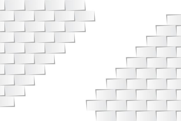 Witte achtergrond in 3d-papierstijl