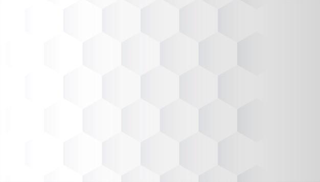 Witte achtergrond met 3d zeshoekig patroonontwerp