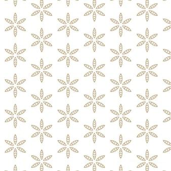 Witte achtergrond met abstracte blad patroon