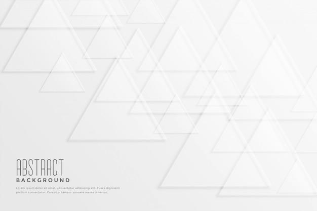 Witte achtergrond met driehoeksvormen