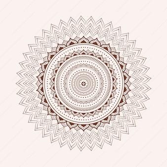 Witte achtergrond met mandala