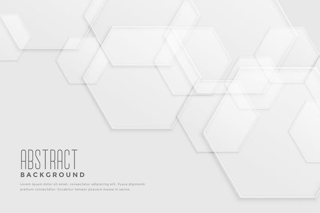 Witte achtergrond met overlappend zeshoekig ontwerp