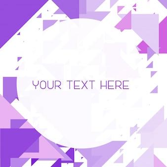 Witte achtergrond met tinten van paarse ontwerpelementen