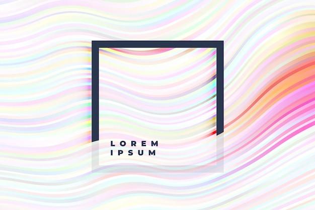 Witte achtergrond met zachte kleurrijke lijnen
