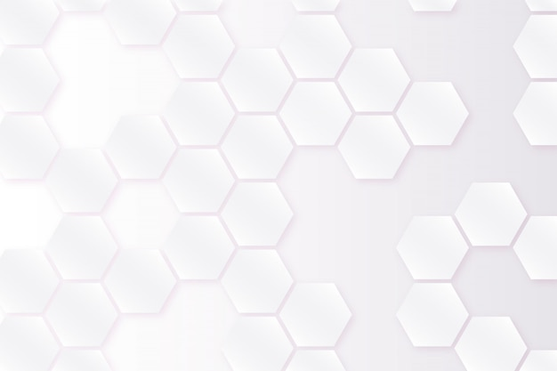 Witte achtergrond met zeshoeken