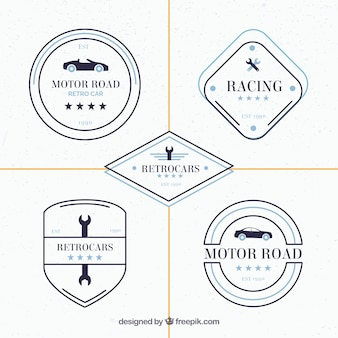 Witte auto logo collectie