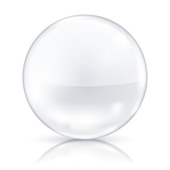 Witte badge geïsoleerd op spiegelvloer