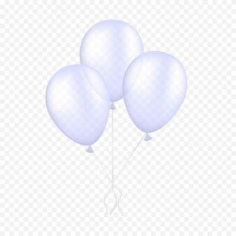 Witte ballonnen zweven