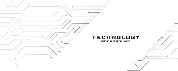 Witte banner met circuitlijnendiagram