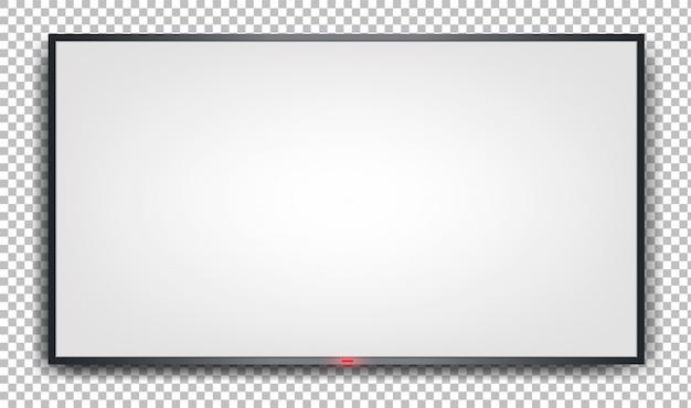 Witte banner op een transparante achtergrond.