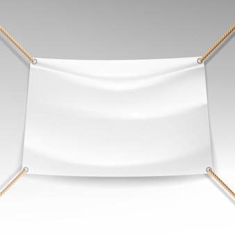 Witte banner