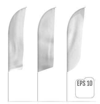 Witte bannervlaggen. mockups. vector