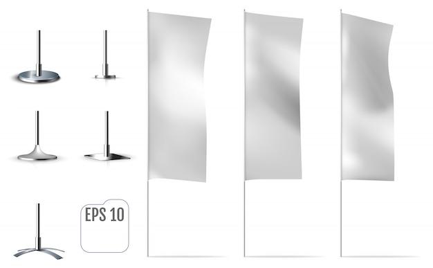 Witte bannervlaggen.
