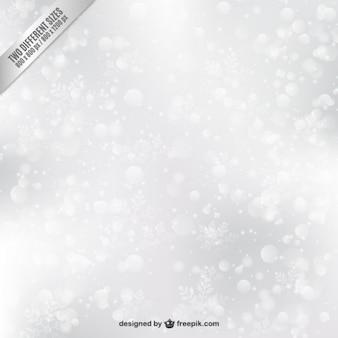 Witte bokeh achtergrond met sneeuwvlokken