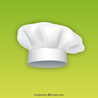 Witte chef hoed