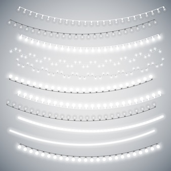 Witte christmas electric garlands set