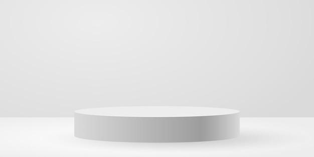 Witte cirkel podium achtergrond vectorillustratie