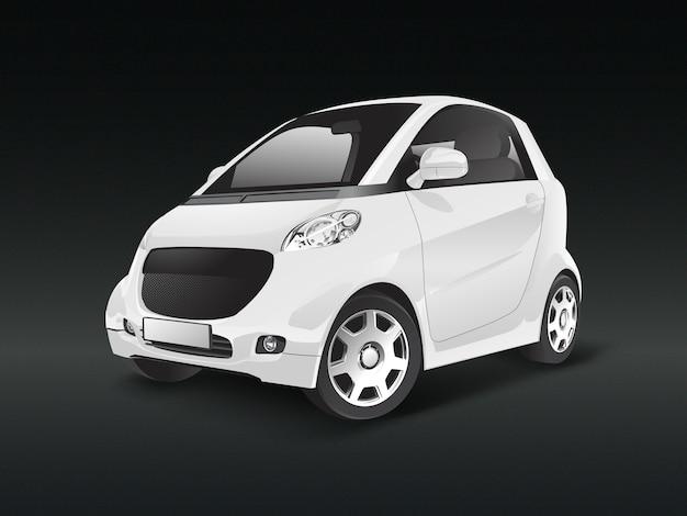 Witte compacte hybride auto vector