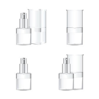 Witte cosmetica-containers