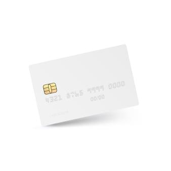 Witte creditcard geïsoleerd.