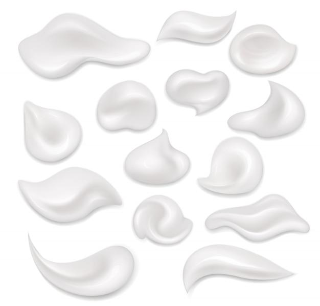 Witte crème.