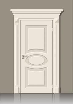 Witte deur in de muur