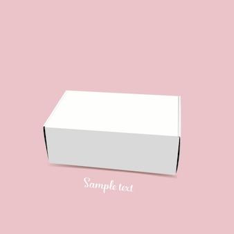 Witte doos malplaatjeontwerp