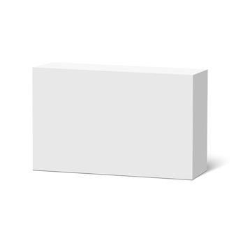 Witte doos. pakket. .