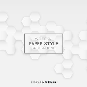 Witte driedimensionale papierstijl achtergrond